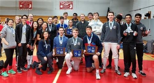 Boys & Girls Fencing District champs 2019
